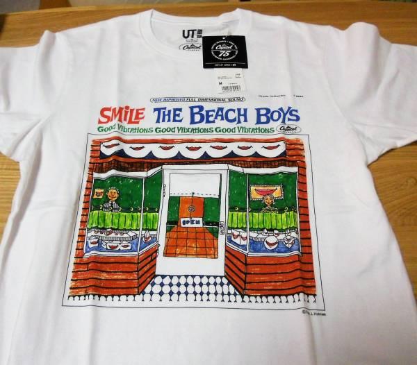 ■ユニクロ【ザ・ビーチ・ボーイズ/スマイル Tシャツ/Mサイズ】未着用品 キャピトル75th♪
