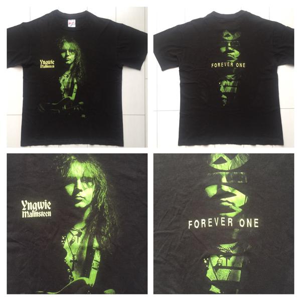 送料無料 90's USA製 YNGWIE MALMSTEEN イングウェイ マルムスティーン vintage HANES ヘインズ Tシャツ メタルT ロックT バンドT ラップT