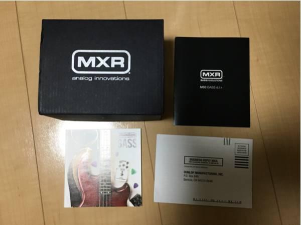 付属品 MXR M-80 BASS D.I.+ ベース用プリアンプ ダイレクトボックス