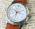 OH済【ブライトリング★クロノマット】18金無垢×SS クロノグラフ 自動巻き メンズ腕時計