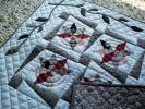 ハンドメイド パッチワーク キルト 静かなレモンスターのタペストリー 61cm×61cm