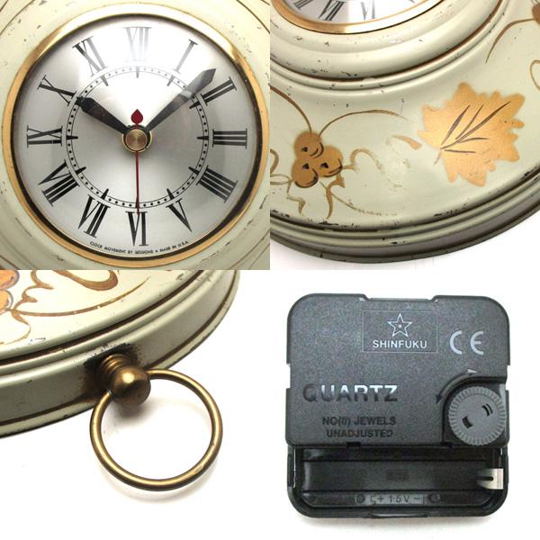 送料無料 アンティークウォールクロック UNKWOWN/ヴィンテージ壁掛け時計アメリカ製usa製ミッドセンチュリー北欧昭和レトロモダン50s60s70s_画像3