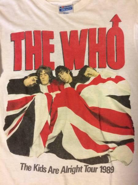 中古 THE WHO Tシャツ ザフー ビンテージ 89年ツアー ハイスタンダード ライブグッズの画像