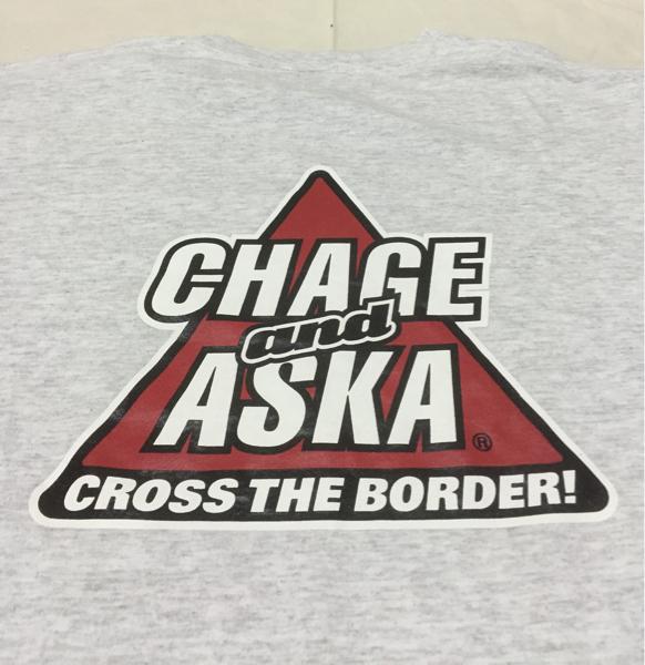 激レア! CHAGE and ASKA チャゲ&飛鳥 チャゲアス Tシャツ ビンテージ 90s 00s CROSS THE BORDER! ストリート 昭和 レトロ タレントグッズ