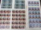切手 古典芸能シリーズ 野崎村 熊谷陣屋 阿波の鳴戸 6シート 額面合計 2,600円分
