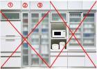88%OFF! 【展示品】 美品 AYANO 綾野製作所 キッチンボード 食器棚 上置きのみ3点 EVAシリーズ