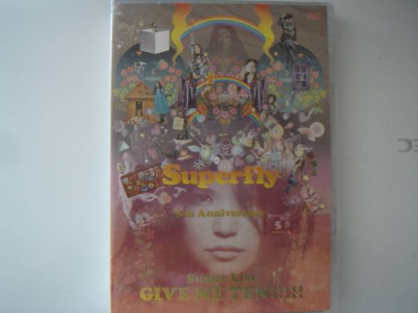 【中古DVD】Superfly 「GIVE ME TEN! ! ! ! ! (初回限定盤)」 ライブグッズの画像