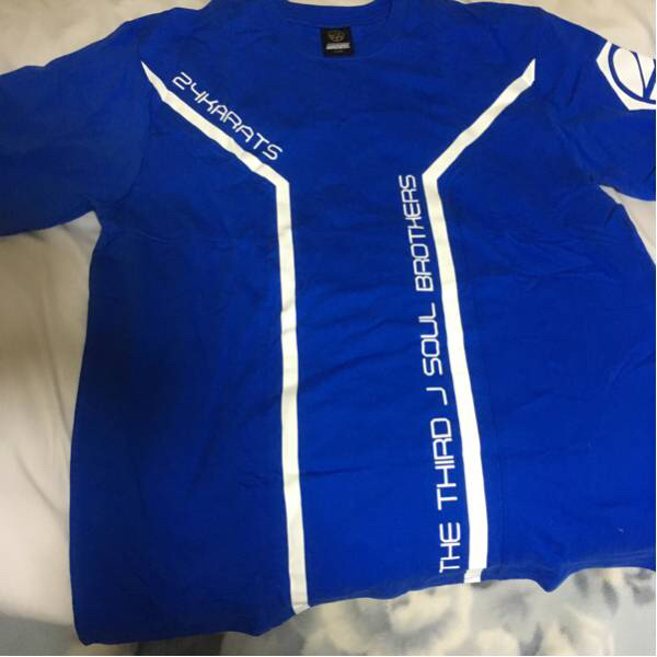 三代目 未使用保管 24karatsブルーインパクトツアーTシャツ!希少!
