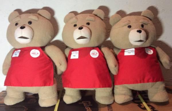 TED2 ぬいぐるみ XL プレミアムもふもふ テッド くま 3体セット☆赤 エプロン 約55cm グッズの画像