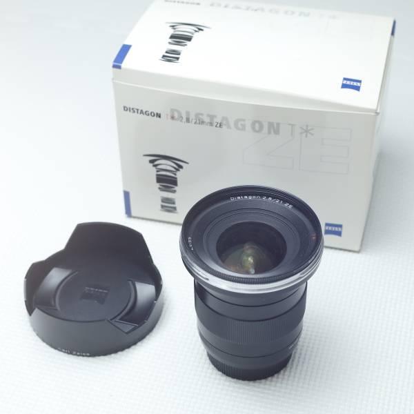 良好美品★Carl Zeiss Distagon 21mm F2.8 T* ZE(Canon キヤノン用) カールツァイス ディスタゴン■元箱・高級フィルター