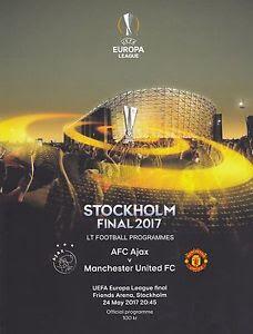 ヨーロッパリーグ2017 決勝 プログラム アヤックス マンチェスターユナイテッド マンU A4ポスター付き グッズの画像