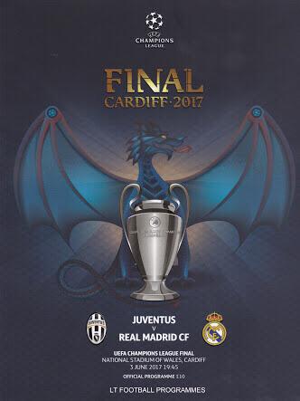 UEFAチャンピオンズリーグ CL 2017 決勝 プログラム ユベントス レアル・マドリード A4ポスター