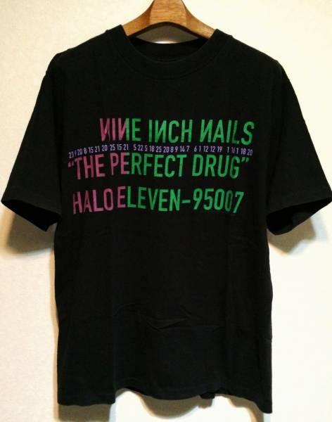 (c)1997THE PERFECT DRUGナインインチネイルズTシャツLサイズ黒USA製ヘビーコットン90sオールド90年代オリジナルAll sport NINE INCH NAILS