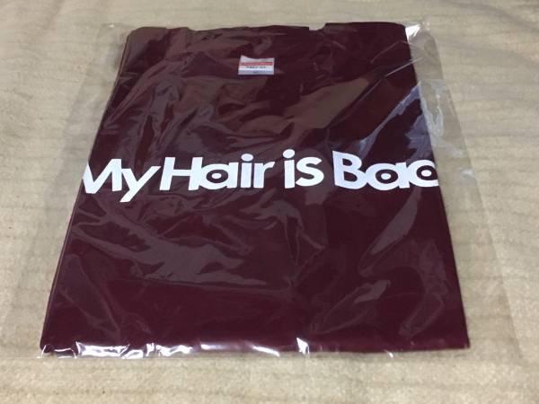 My Hair is Bad 2017年新作 ロゴTシャツ(バーガンディ)XL 新品 赤系