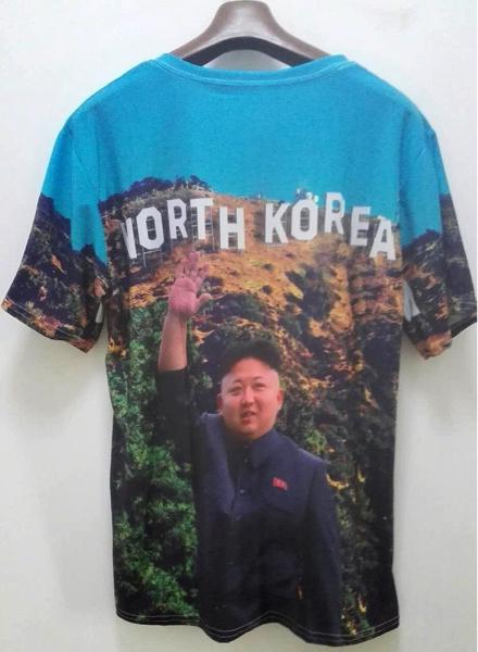 新品 激レア 白頭山血統 宇宙一イケメン 金正恩大元帥の最高級綿製Tシャツ 他北朝鮮軍 モランボン楽団
