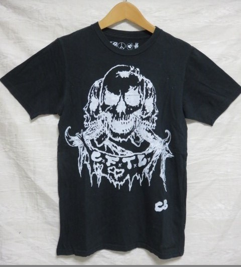CREATURE FROM THE LIVING Tシャツ 黒 髑髏 CB c.f.t.l raleigh MADTOYZ ZIGGY C22