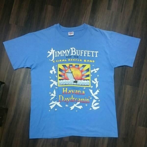 90年代 JIMMY BUFFETT ジミーバフェット HAVANA DAYDREAMIN TOUR 1997 anvil MADE IN USA Tシャツ ツアーT アメリカ 歌手 vintage Lサイズ ライブ・イベントグッズの画像