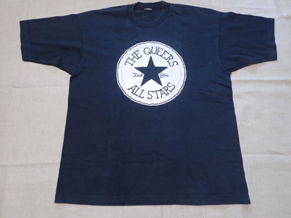【 90S The Queers 】 ヴィンテージ Tシャツ 黒 ダブルステッチ / ramones television joy division damned clash rancid green day