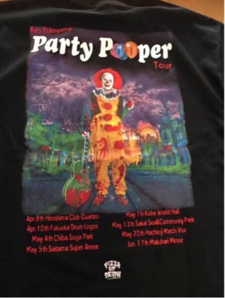 【新品】ken yokoyama Tシャツ BLACK サイズL Party Pooper pizza of death ピザオブデス ライブグッズの画像