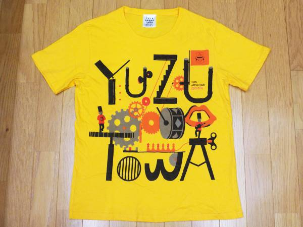 【 ゆず 】2015-16アリーナツアー TOWA プリントTシャツ 黄 M