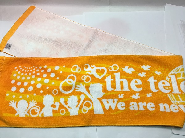 ■J 極美 テレフォンズ The Telephones マフラータオル オレンジ 約105cm