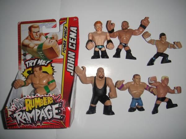 WWE  ランブラー ミニフィギュア 7体セット ②  rumblers グッズの画像