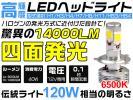 1円~120Wの明るさ相当 14000lm LEDヘッドライトH1/H3/H4/H7/H8/H11/H16/HB3/HB4 6500K Hi/Lo 高輝度 新型 COBLEDチップ T10無料進呈 YG