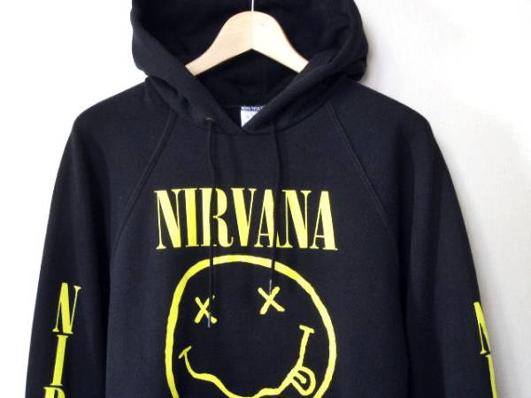 XLサイズ 92年 NIRVANA スリーブ・プリント入り スウェット パーカー 90s バンドT Red Hot Chili Peppers SOUNDGARDEN Alice in Chains