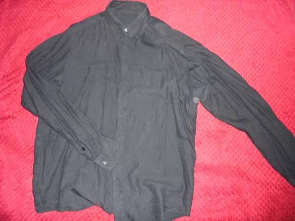 ヴェルサーチVERSACE CLASSIC V2ベルサーチ/黒色長袖シャツ/大きめメンズ42/16 1/2サイズ/おしゃれ総柄デザイン/熊本県からヤマト便で発送_画像1