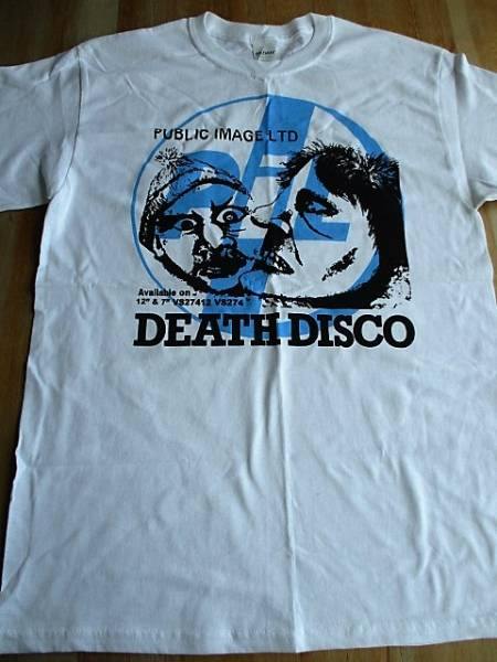 PUBLIC IMAGE LTD Tシャツ death disco 白M / PIL sex pistols pop group RIP RIG & PANIC clash No New York