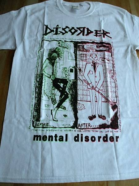 DISORDER Tシャツ mental disorder 白M / discharge broken bones english dogs chaos uk amebix ukdk