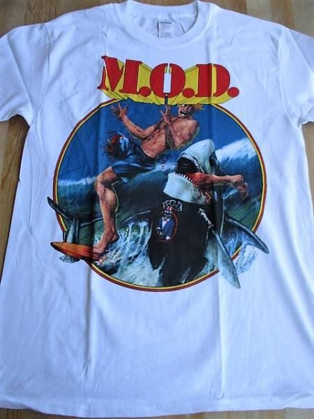 M.O.D. Tシャツ 白M surfin / metallica anthrax slayer s.o.d. d.r.i. napalm death megadeth pantera