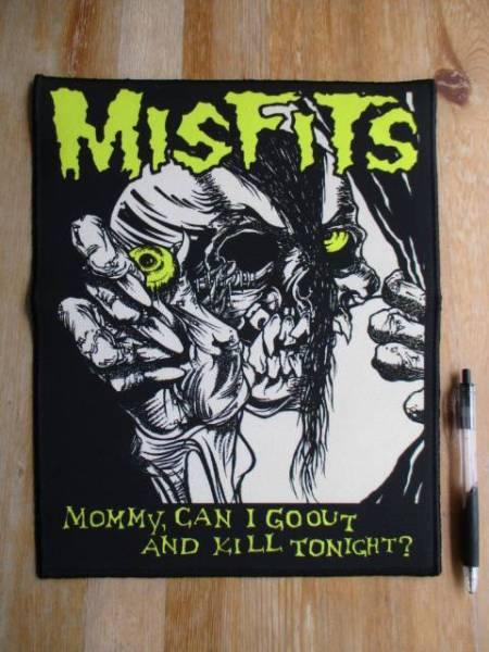 MISFITS プリントバックパッチ ワッペン ミスフィッツ / samhain danzig undead