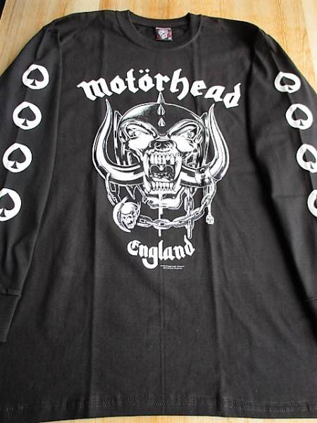 MOTORHEAD 長袖Tシャツ England 黒M ロンT モーターヘッド / metallica judas priest iron maiden black sabbath