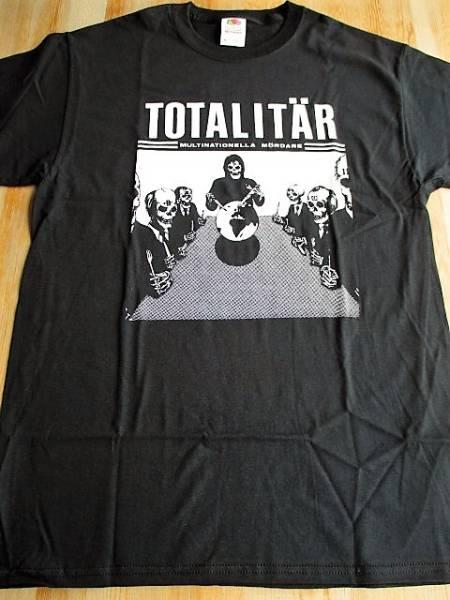 TOTALITAR Tシャツ multinationella mordare 黒M / state of fear los crudos mk ultra charles bronson dropdead siege anti cimex