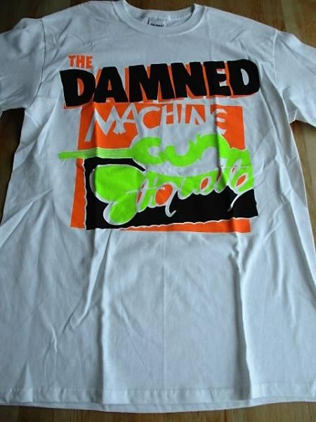 The Damned ダムド Tシャツ Machine gun etiquette 白M / sex pistols ramones clash buzzcocks discharge