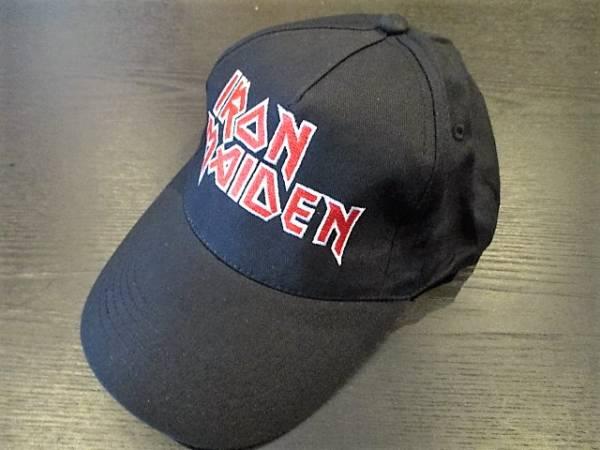 IRON MAIDEN コットン 刺繍 キャップ 黒 cap アイアン・メイデン / motorhead def leppard slayer metallica anthrax
