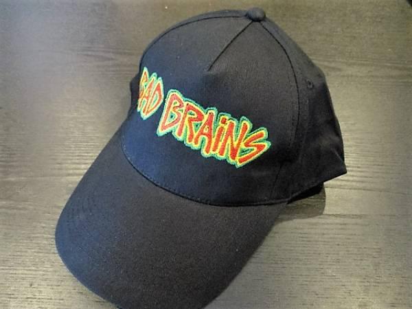 BAD BRAINS コットン 刺繍 キャップ 黒 cap バッド・ブレインズ / black frag minor threat d.r.i. wehrmacht slayer metallica anthrax