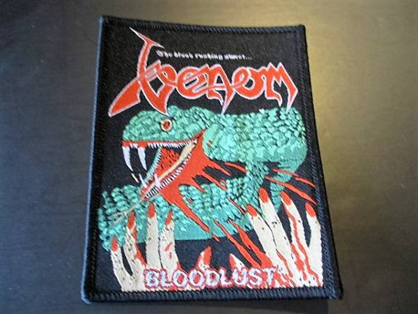 VENOM 刺繍パッチ ワッペン bloodlust ヴェノム / s.o.d. anthrax megadeth d.r.i. slayer metallica sodom iron maiden