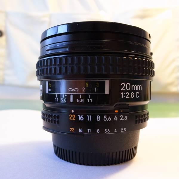 送料無料 ニコン Nikon AF Nikkor 20mm F2.8 D 動作確認済