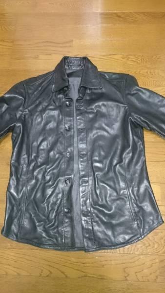 【秋~春着用可美品】TomorrowLand(トゥモローランド)レザーシャツジャケット 氷室GLAY等ロック好きにも