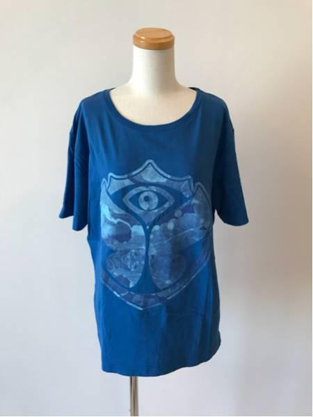 美品 Tomorrowland トゥモローランド 2016年限定公式カモフラージュロゴTシャツ サイズS メンズ夏物 夏服 ティーシャツ トップス ブルー 青
