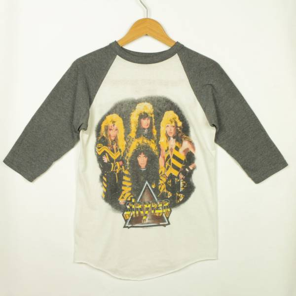 T1260■USA製 80's STRYPER ストライパー to hell with the Devil tour '87 ラグラン ツアーTシャツ ビンテージロックTシャツ M