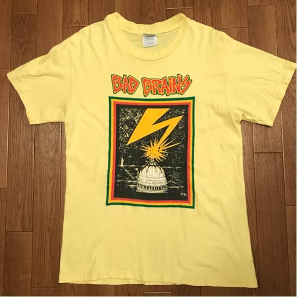 (USED)90s バッドブレインズTシャツbad brains ハードコアパンク NYC レゲエ コンサートグッズの画像