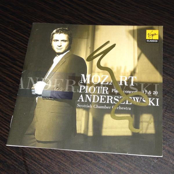 ピョートル・アンデルジェフスキ Piotr Anderszewski 直筆サイン入りCD 輸入盤