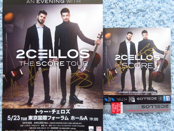 ◇2CELLOS/2チェロズ 直筆サイン入りCD&チラシ!
