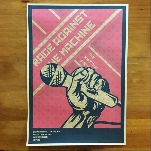【新品】 レイジアゲインストザマシーン ポスター rage against the machine 復刻 ビンテージ風 菅田将暉 ロック ハードコア