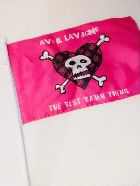 Avril Lavigne アヴリル・ラヴィーン アブリル The Best Damn Things Abbey Dawn (旗/フライヤー/Tシャツ セット)