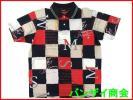 美品◆MUNSINGWEARマンシング パネル柄 半袖ポロシャツ Lサイズ/デサント/日本製/ゴルフ