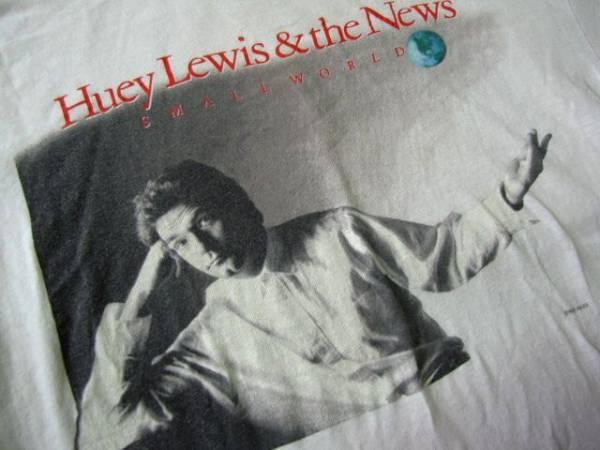 N67*80'sビンテージ ヒューイルイス ザニュースHuey Lewis & The News ロックTシャツ ジャケT USA製